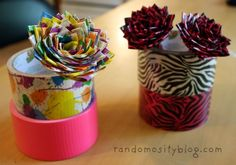 Duct tape flower pin.