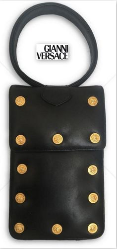 9d537a81002 90s Gianni Versace Very Rare wrist clutch leather purse