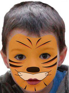 Kinder schminken: Tiger