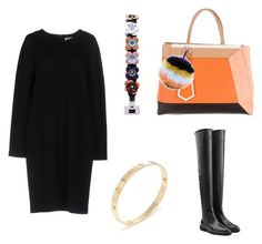 """База"" by shkolashopinga ❤ liked on Polyvore featuring Jil Sander, Fendi, Sergio Rossi and Cartier"