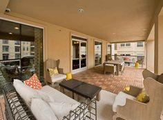 Expansive terrace at AMLI RidgeGate, luxury apartments in Lone Tree.