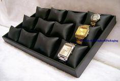 New 2013 Display Jewelry Ideas Bangle Bracelet Watch Display Tray Black Leatherette Jewellery Display Case Holder