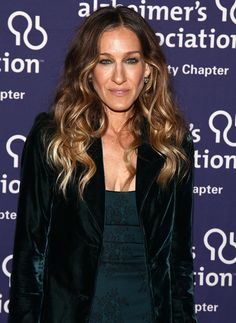 Only wrap the middle section of hair around your curling wand to get straight-ended waves like SJP. So chic.   - MarieClaire.com