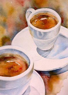 """""""Espresso 3"""" by Thomas Habermann (Germany) 20 x 30 cm, Arches 300g/qm"""
