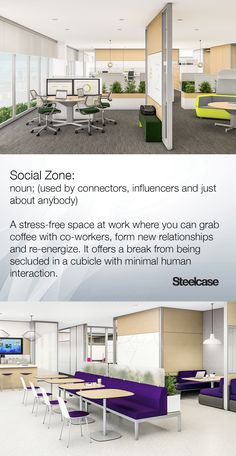 When to use a social zone at work #Steelcase