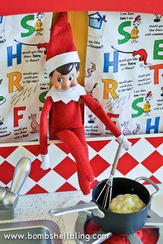 Tons of fun & simple Elf on the Shelf ideas using toys!  #elf #elfontheshelf #christmas