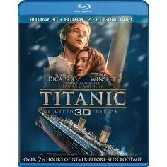 Titanic (4 Disc Blu-Ray 3D Combo) $14.99
