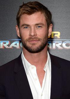 Chris Hemsworth attends The Cinema Society with FIJI Water, Men's Journal, and Synchrony host a screening of Marvel Studios' 'Thor: Ragnarok'
