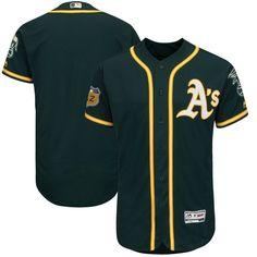Oakland Athletics Majestic 2017 Spring Training Authentic Flex Base Team Jersey - Green - $226.99