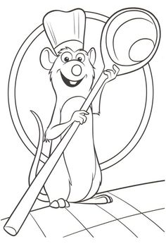 Ratatouille coloring pages. Pick one from my Ratatouille coloring pages that take from the Disney movie. You are allow to color with your favorite colors. Free Disney Coloring Pages, Coloring Book Pages, Printable Coloring Pages, Coloring Pages For Kids, Coloring Sheets, Art Drawings For Kids, Disney Drawings, Easy Drawings, Ratatouille Disney