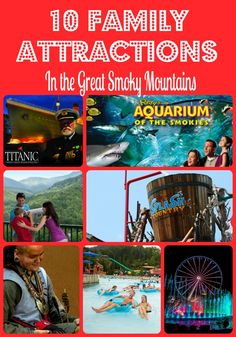 If you are planning a trip to Gatlinburg or Pigeon Forge you will want to check out these 10 Family Attractions in the Great Smoky Mountains.