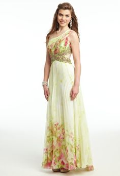 One shoulder cutout Prom Dress from Camille La Vie and Group USA