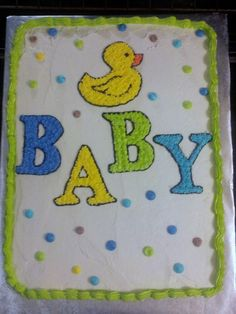 Baby duck shower cake