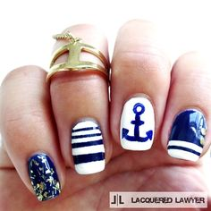 Anchors Away by LacqueredLawyer from Nail Art Gallery