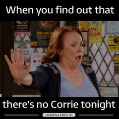 Coronation Street (@itvcorrie) | Twitter A Funny, Funny Stuff, Coronation Street Cast, Pop Culture References, Crows, Man Humor, Just Love, Virgo, Soaps