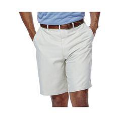 Haggar® Cool 18® No–Iron Flat-Front Shorts–Big