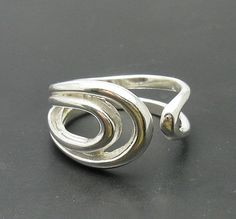 R000731 Stylish STERLING SILVER Ring Solid 925 Adjustable size