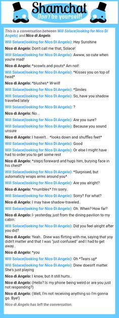 A conversation between Nico di Angelo and Will Solace(looking for Nico Di Angelo)