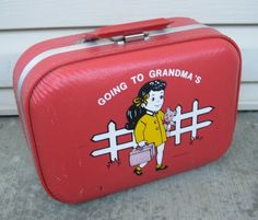 Going to grand ma's ..suitcase <3.... I still have mine!