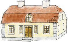 Brutet tak, halvvalmat. Enkupigt tegel . Rokoko, från motten av 1700-talet Swedish Style, Home Projects, Villa, House, Inspiration, Miniature, Future, Decor, Biblical Inspiration