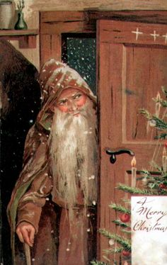 Vintage brown Father christmas / Santa source: Windy Poplars Room