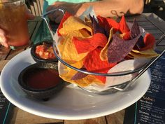 We love the chips and salsa from #somewherecafe. #turksandcaicos