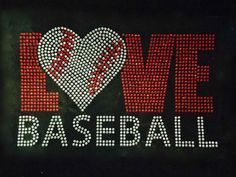 Love Baseball with heart shape ball Rhinestone Transfer Iron On - DIY ** To view further for this item, visit the image link. Baseball Mom, Baseball Stuff, Option Quotes, Publix Coupons, Cardinals Baseball, Rhinestone Transfers, Disney Tees, Wet T Shirt