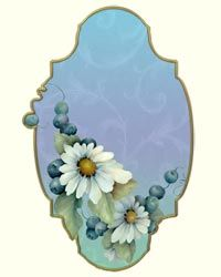 Daisies Blueberries E-Gift Tag