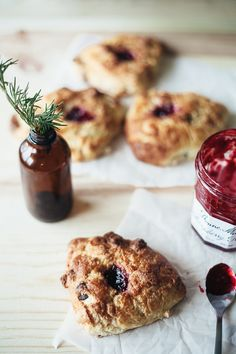 marzipan dark chocolate scones with raspberry jam | my name is yeh