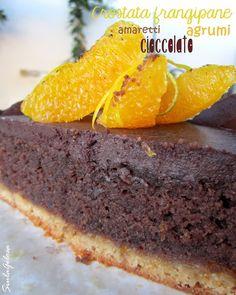 Siula Golosa: Crostata frangipane amaretti, cioccolato e agrumi
