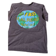 Retro Adult Unisex Superhero Tshirt - So Fast I'm Already Back