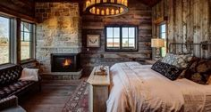 Rustic Home Decor Ideas You Can Build Yourself Rustic Bedroom Best Design Lastexitdc Design Of Rustic Bedroom pertaining to [keyword Log Cabin Bedrooms, One Room Cabins, Rustic Bedrooms, Rustic Home Design, Cabin Design, House Design, Rustic Decor, Rustic Fireplaces, Farmhouse Master Bedroom