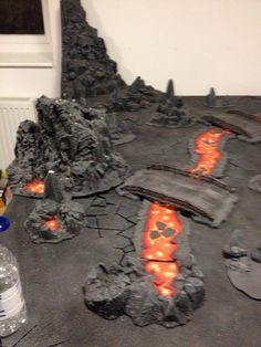 MODULOWA RZEKA LAWYDaemon world - modular lava stream