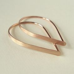 Flat Front Rose Gold Hoop Earrings Extra Small by TeresaHurley, $20.00