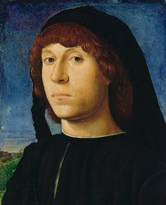 Antonello da Messina- Portrait of a young man, 1478