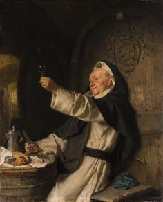 Eduard Theodor Ritter von Grützner (1846 - 1925) — Cisterian monk's (564×700)