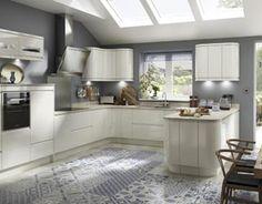 Neo Ivory Gloss Ivory Kitchen Cabinets, Kitchen Cupboard Doors, Kitchen Units, Kitchen Layout, New Kitchen, Kitchen Decor, Kitchen Ideas, Kitchen Inspiration, Kitchen Diner Designs