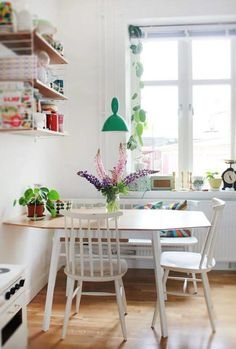 Not this style. But...I love this type of a table and chairs in a small(ish) kitchen!!