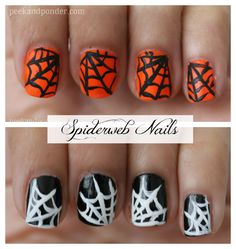 Halloween Spiderweb Nails