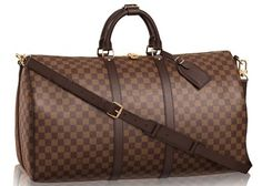 Louis Vuitton 55 Damier Ebene Carry On Luggage Travel Bag.