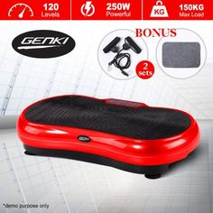 $379.96,Save $19.99 - Red - Genki Ultra Slim Vibration Fitness Machine Body Shaper Platform 2nd Gen - Red at CrazySales.com.au - If you're looking for a great way to get your body in shape with little effort in the comfort of your own home, go this Red Vibrating Workout Platform.