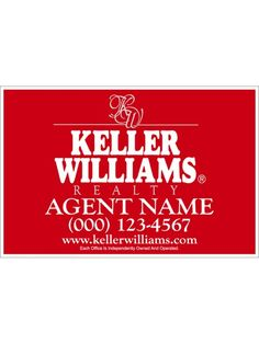 Keller Williams Signs are a must have for every realtor who wants success in the field. There is nothing that increases your chances of quickly closing a deal like good exposure.