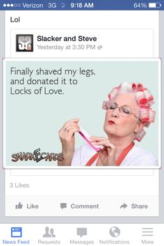 #Ladies, don't let this be you. Order some razors at www.shavemob.com - you'll save a lot of money and love having smooth legs!  #ShaveSmarter