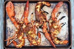 Grilled Lobster with Miso Butter #SundaySupper   www.kimchimom.com