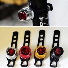 Led防水バイク自転車サイクリングフロントリアテールヘルメット赤いフラッシュライト安全警告ランプサイクリング安全注意ライトt41