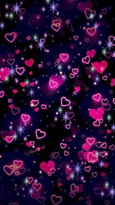 Hearts homescreen wallpaper, bokeh wallpaper, wallpaper for your phone, cute wallpaper backgrounds,