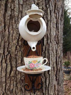 Add a unique birdhouse to your backyard landscaping. | Deloufleur Decor & Designs | (618) 985-3355 | http://www.deloufleur.com