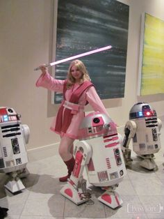 Jedi Barbie Pink Explosion. View more EPIC cosplay at http://pinterest.com/SuburbanFandom/cosplay/