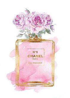Imagem de chanel, background, and flowers