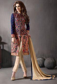 Sherwani Style Pakistani Suit - Anarkali Suit | Zakasi.com